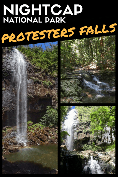 protesters falls byron bay hinterland nightcap national park