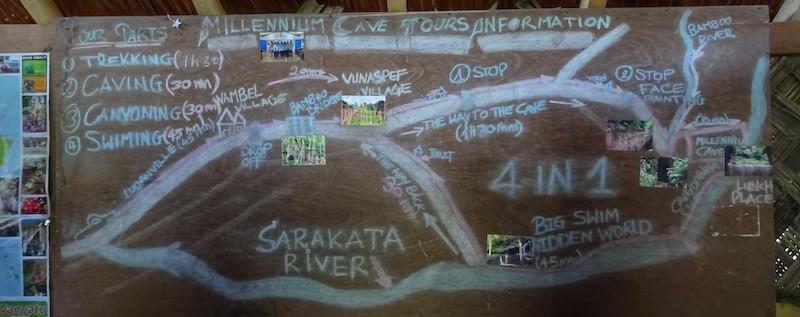 Millenium Cave Vanuatu itinerary of the trek