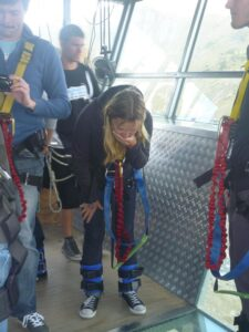 Bungy Jumping New Zealand - Eloise watching