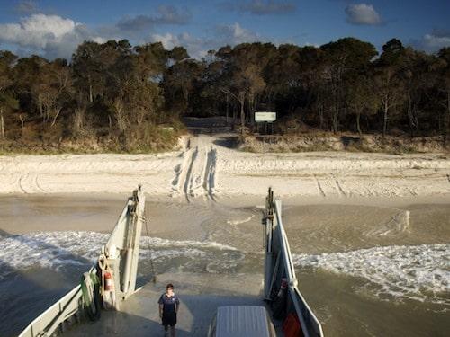 Fraser Island Ferries on the beach