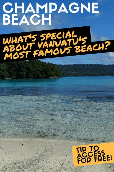 Champagne Beach free Espiritu Santo