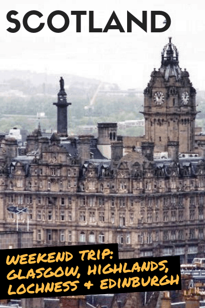 Weekend trip to scotland edinburgh