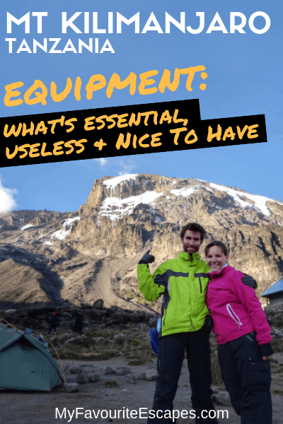 Equipment for Kilimanjaro - Packing list essentials