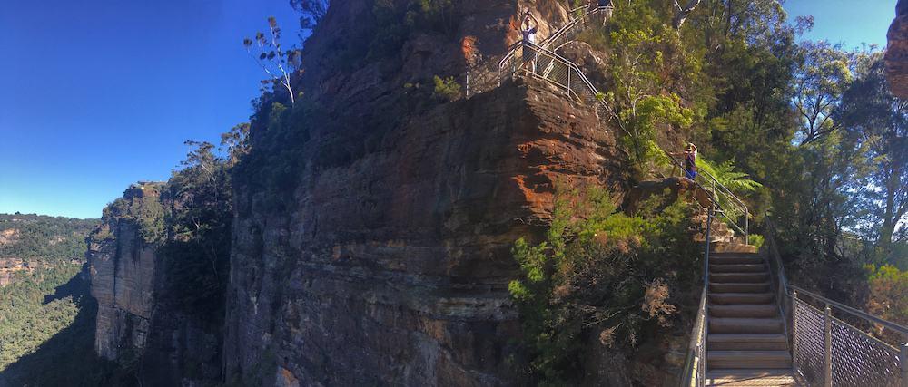 View from Honeymoon Bridge Giant Stairways Blue Mountains Katoomba