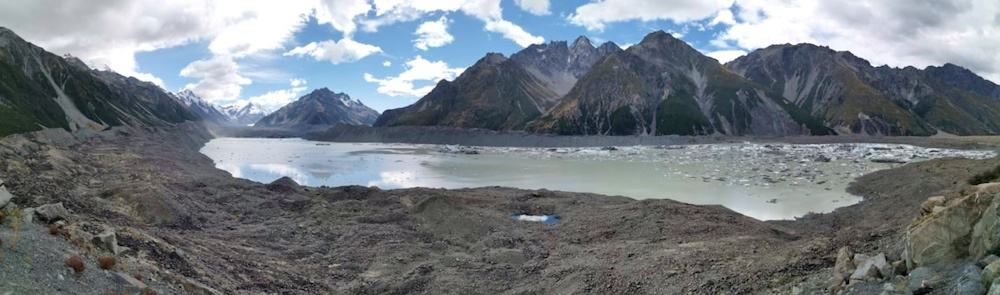 Tasman Glacier Viewpoint Mt Cook hike New Zealand