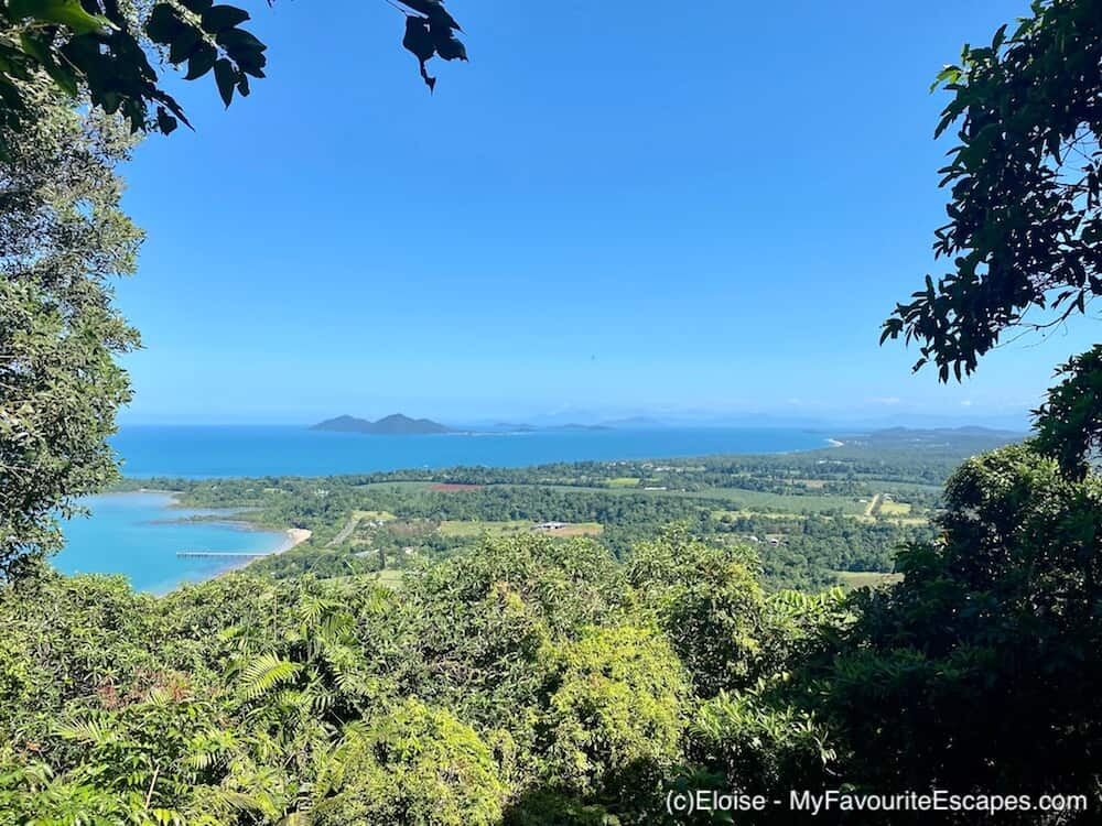 View of Mission Beach with Dunk Island on the horizon from Bicton Hill