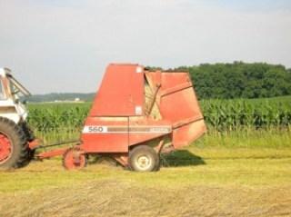 round bale of hay 1