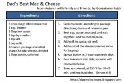 dads best mac and cheese card