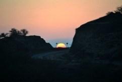 maui highway sunset