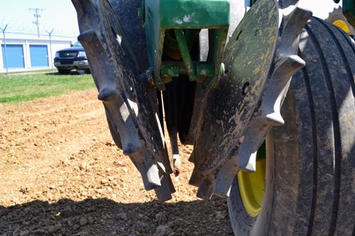corn planter close up