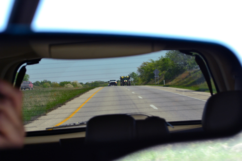 planter in the rearview