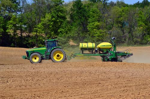 16-row corn planter