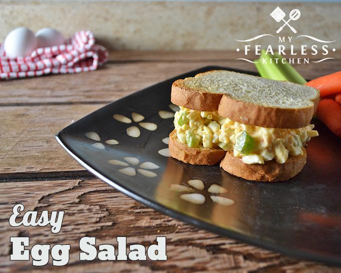 egg salad sandwich on thick-sliced bread