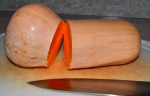 cut butternut squash