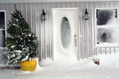 front door snowed in