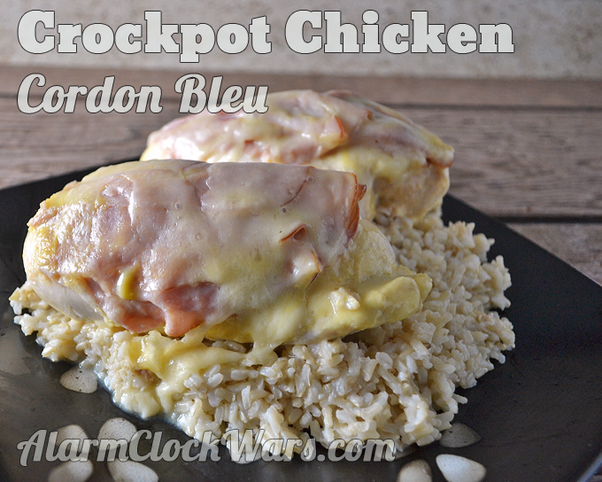 This Chicken Cordon Bleu needs just a little bit of prep, then cooks all day in your slow cooker while you're off doing other things!