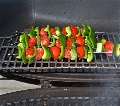 grilled veggies on skewers