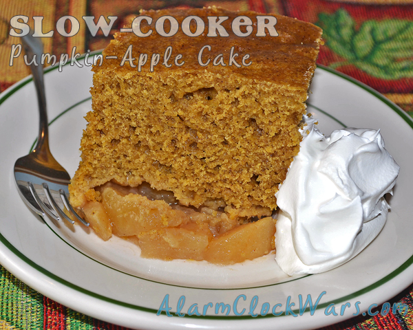 slow-cooker pumpkin-apple cake