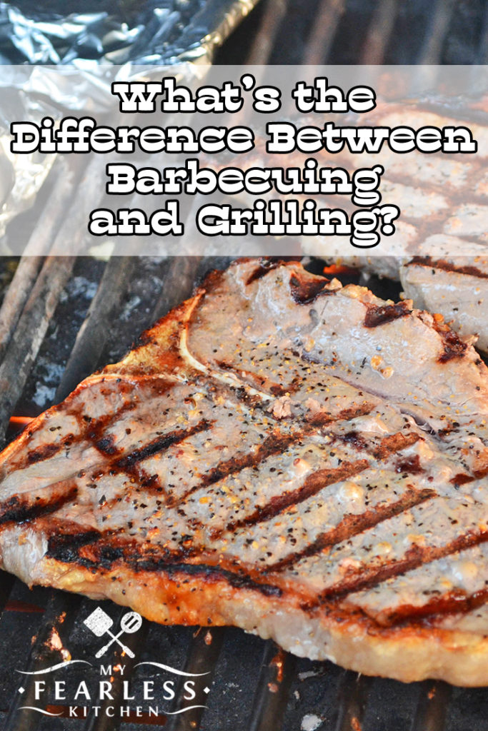 What's the Difference Between Barbecuing & Grilling? from My Fearless Kitchen. Do you know the difference between barbecuing and grilling? Both techniques make some amazing food, but there is one very important difference between them.