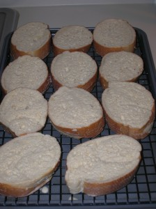 bread resting for French toast
