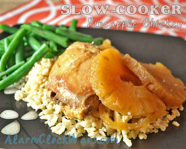slow-cooker pineapple chicken