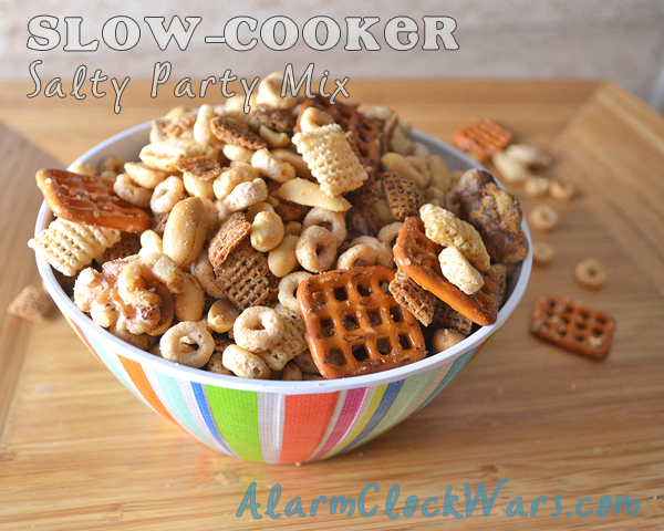 slow-cooker salty party mix