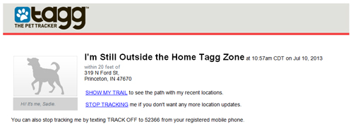 still outside the home tagg zone