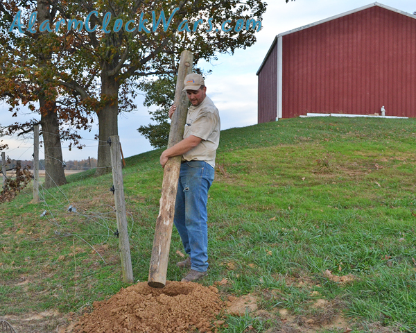 fence posts have 3 feet underground, and about 4 feet above ground