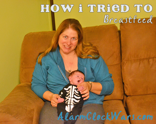 I tried to breastfeed my son for 7 weeks. As part of that struggle we used a Supplemental Nutrition System to give him some formula so he got enough to eat.