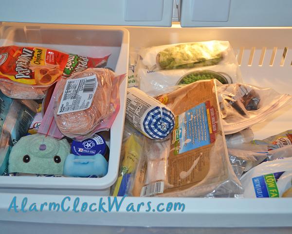 upstairs freezer top