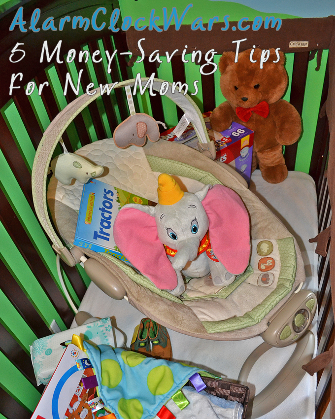 Having a new baby can be overwhelming for your and for your budget. Cherie, the Queen of Free, shares 5 easy money-saving tips for new moms.