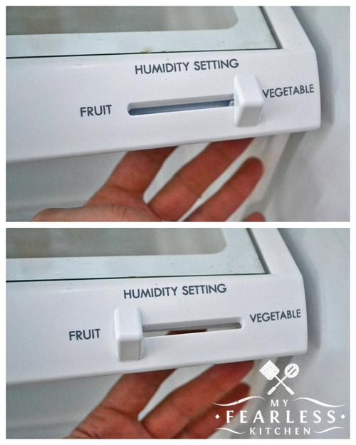 different humidity settings on refrigerator crisper drawers