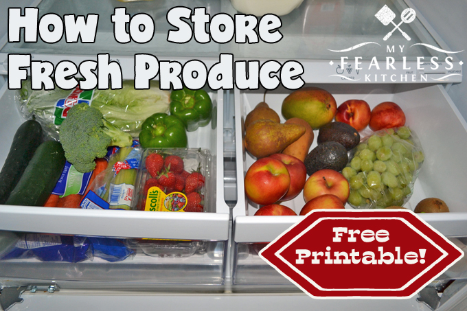 fruits and vegetables in crisper drawers in a refrigerator