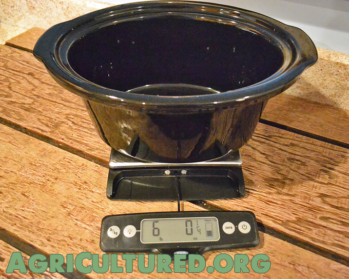 Weigh the pots and pans you use most often. When your meal is done, weigh it full and subtract the weight of the empty dish. Then divide that weight by the number of servings. Ta da, portion size!
