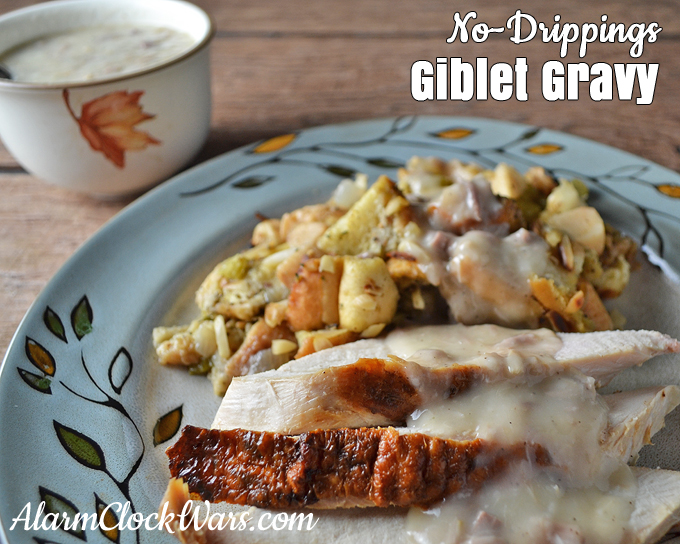 No turkey drippings? No problem! You won't be able to tell the difference with this recipe for No-Drippings Giblet Gravy.
