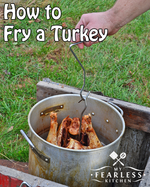 How to Fry a Turkey from My Fearless Kitchen. Do you want to fry a turkey, but aren't sure how to do it? Check out this post for all the equipment, preparation, and safety tips you need to fry a turkey!