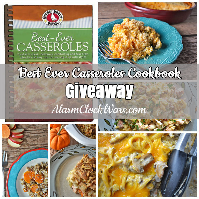 """asseroles don't have to be boring! If you're stuck in a rut with casseroles, you need to check out """"Best Ever Casseroles."""" You'll love this cookbook, and I have a copy to give away to one lucky reader!"""