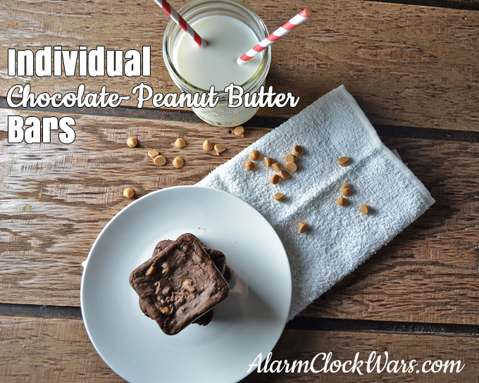 Individual Chocolate-Peanut Butter Bars recipe