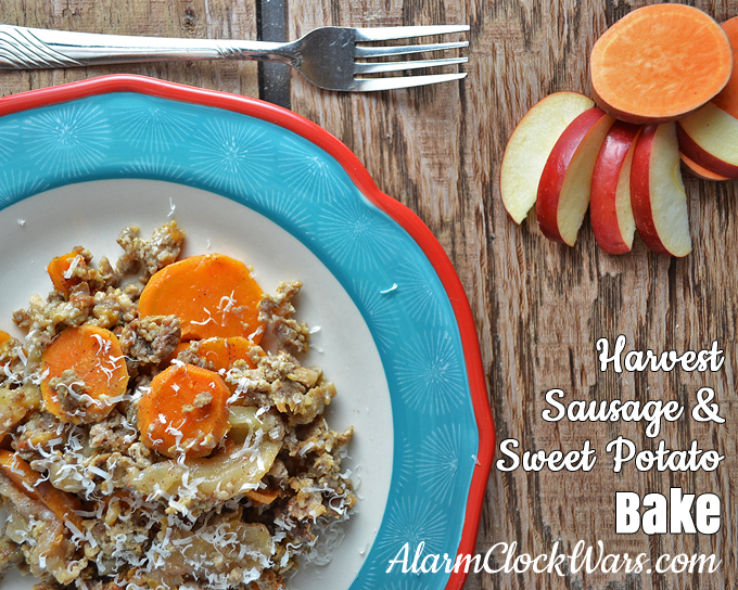 Sausage, sweet potato, and apples are a tasty combination in this easy-to-make Harvest Sausage & Sweet Potato Bake recipe.