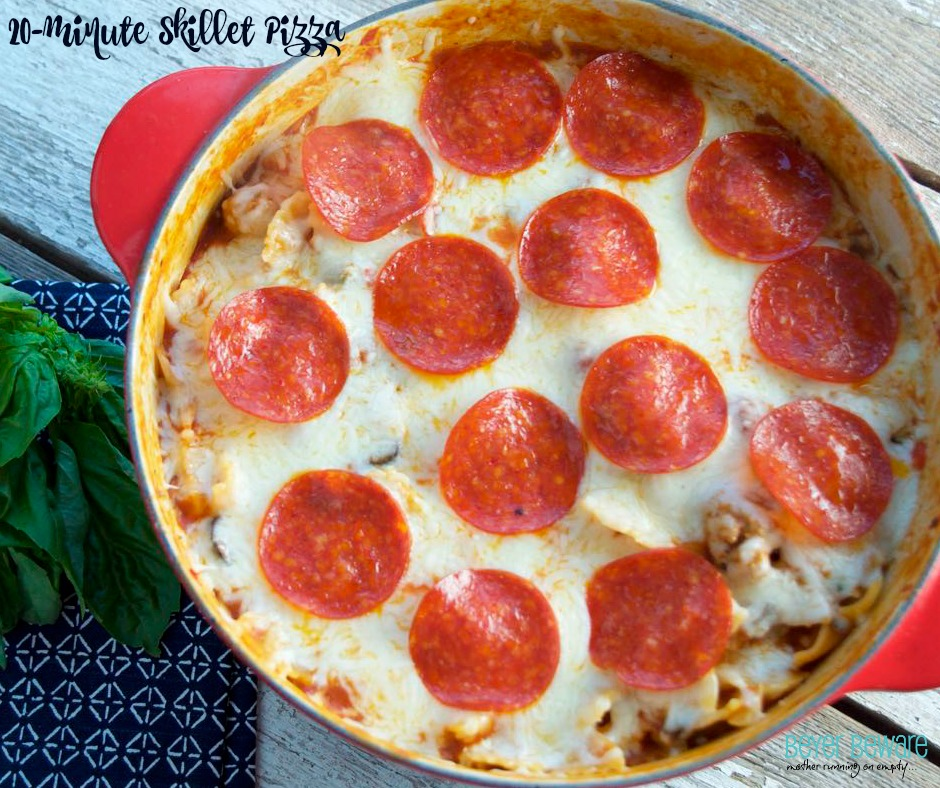 20-minute skillet pizza