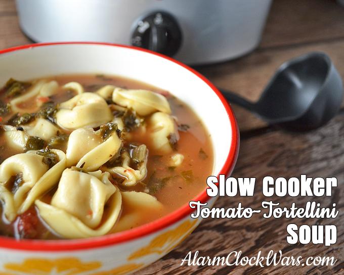 Slow Cooker Tomato Tortellini Soup recipe