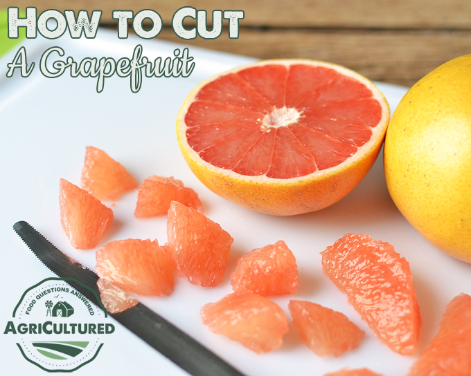 How to cut a grapefruit from AgriCultured. Do you love grapefruit? Get my best tips, and watch a video, for easy ways to cut a grapefruit so you can enjoy this citrus fruit anytime!