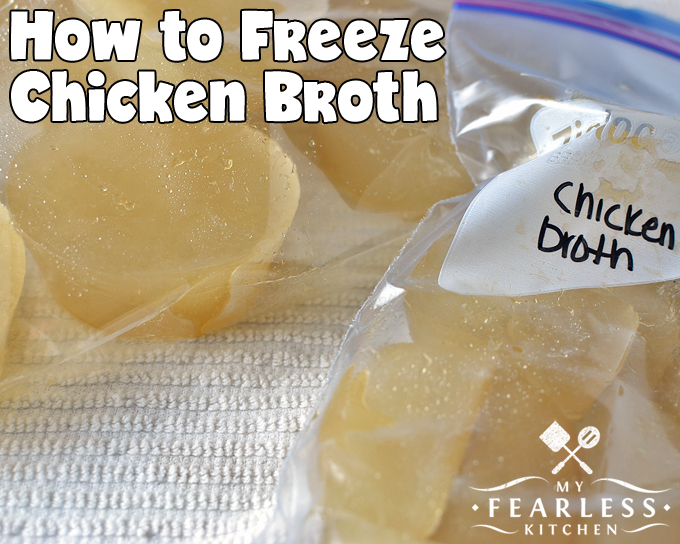 How to Freeze Chicken Broth from My Fearless Kitchen. Do you end up with leftover chicken broth when you're cooking? Find out how to freeze chicken broth in small portions, so you only thaw what you need.