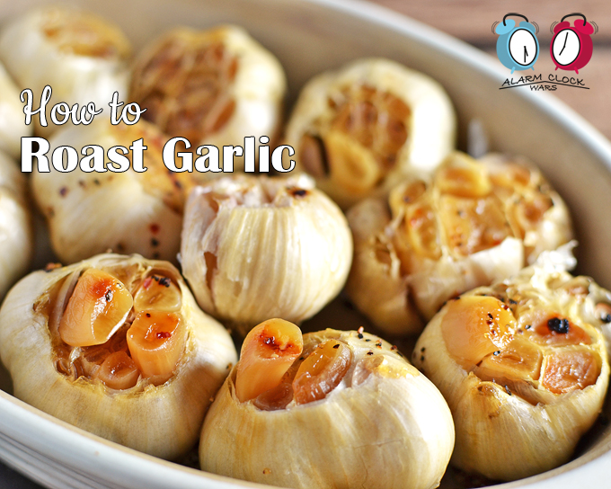 How to Roast Garlic on Alarm Clock Wars. Roast garlic has the most divine flavor... Once you see how easy it is to roast, you'll want to add it to everything you cook!