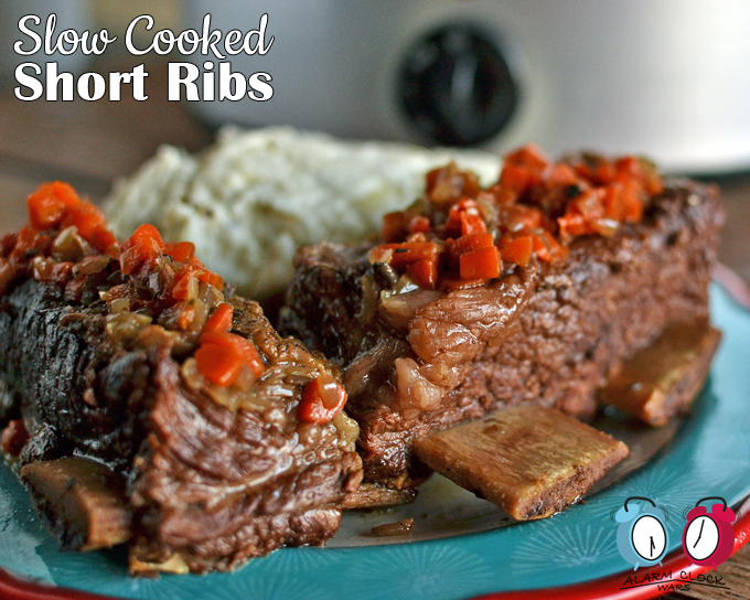 Slow Cooked Short Ribs on Alarm Clock Wars. These Slow Cooked Short Ribs are melt-in-your-mouth delicious. Follow these tips for the perfect, tastiest, easiest short ribs you've eve had!