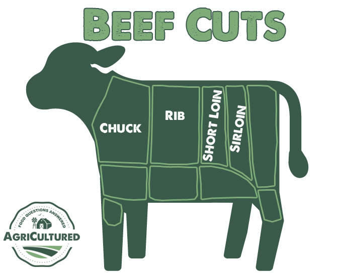 Beef cuts that are similar to pork chops come from the chuck, rib, short loin, and sirloin sections of the steer.