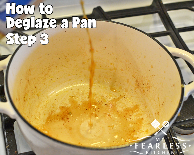 How to Deglaze a Pan from My Fearless Kitchen. Do you know how to deglaze a pan? It's fast and easy, and you should never skip this step! It will help add an extra kick of flavor to any dish.