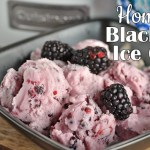 Homemade Blackberry Ice Cream
