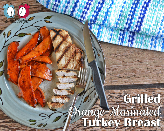 Grilled Orange-Marinated Turkey Breast from Alarm Clock Wars. Are you looking for something new to try on your grill? This Grilled Orange-Marinated Turkey Breast is easy to prep, fast to cook, and tastes so good!