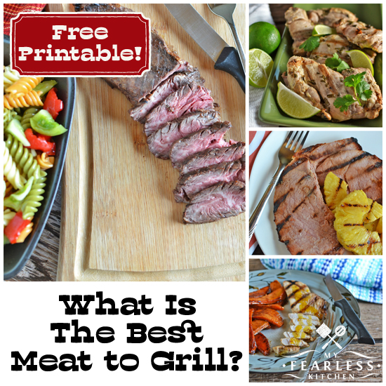collage of recipes for the grill